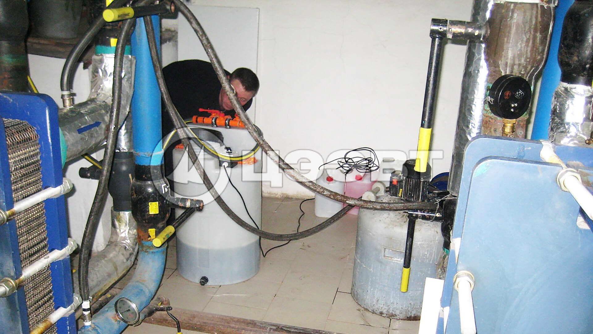 Оборудование для промывки и очистки теплообменников